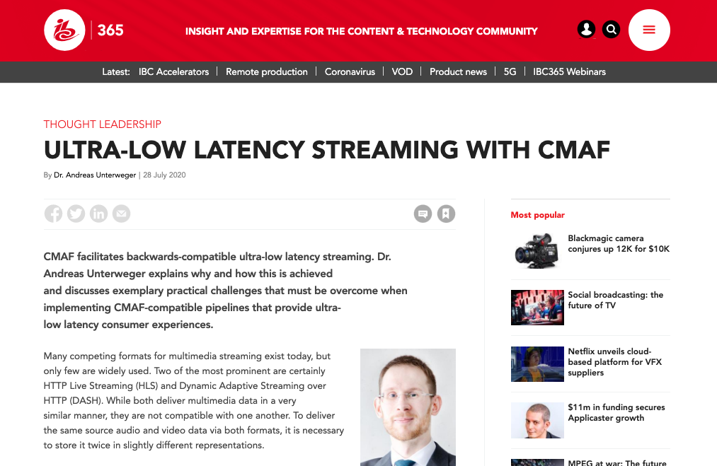 Ultra low latency streaming with smaf
