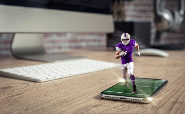 Solving the Multiple action / Single view problem - American football player on a smartphone