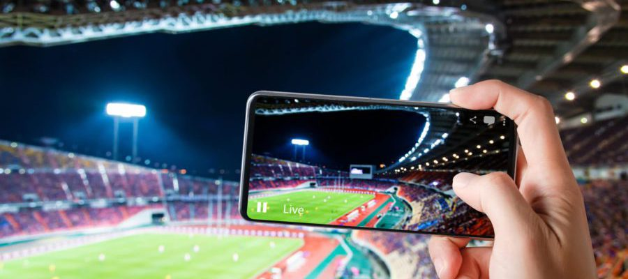On-site Experience - person holding a smartphone at the stadium